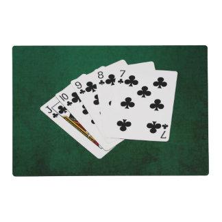 Manos de póker - rubor recto - juego de los clubs tapete individual