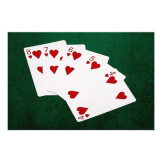 Manos de póker - rubor recto - juego de los fotografía