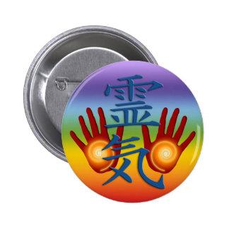 Manos de Reiki Pin Redondo 5 Cm
