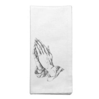 Manos de rogación servilleta imprimida