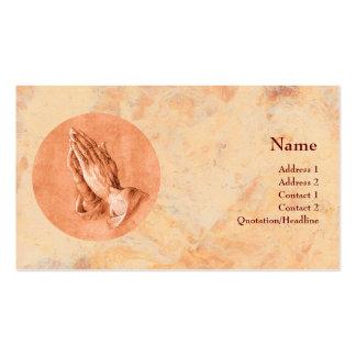 Manos de rogación tarjetas de visita