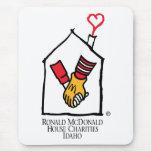 Manos de Ronald McDonald Alfombrilla De Ratón