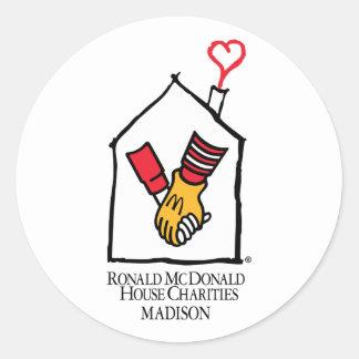 Manos de Ronald McDonald Pegatinas