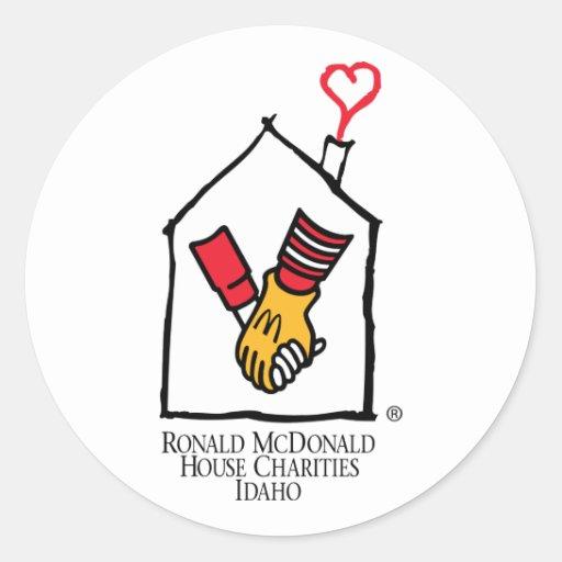 Manos de Ronald McDonald Pegatina Redonda