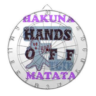 Manos de TGIF Hakuna Matata de la cara divertida