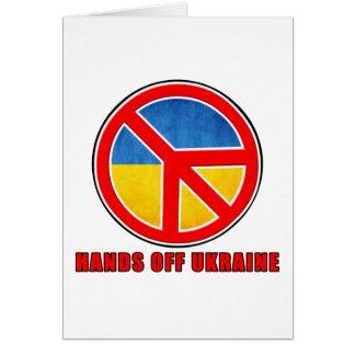 Manos de Ucrania Tarjeta De Felicitación