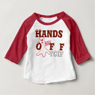 ¡Manos del abucheo! Camiseta del raglán de Playera