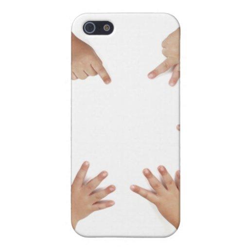 Manos del bebé iPhone 5 cárcasas