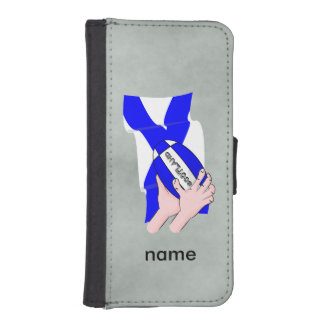 Manos del dibujo animado de los partidarios de la funda billetera para teléfono