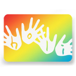 manos del holi del color invitacion personalizada