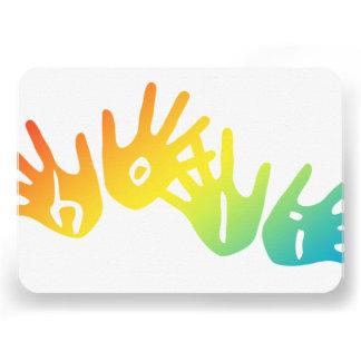 manos del holi invitacion personalizada