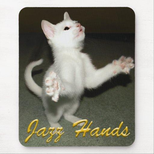 ¡manos del jazz! tapete de ratón