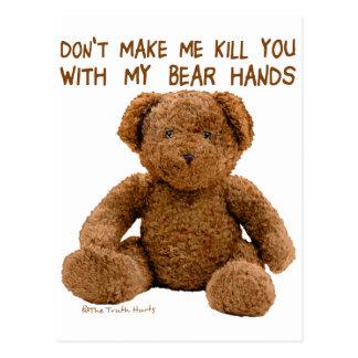 Manos del oso postal