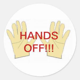 manos del pegatina
