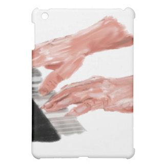 Manos del teclado de piano que juegan diseño de la