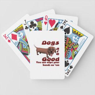 Manos del trapo baraja cartas de poker