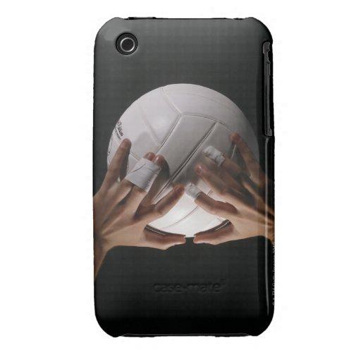 Manos del voleibol iPhone 3 Case-Mate cobertura