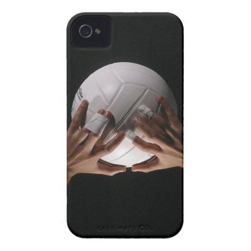 Manos del voleibol iPhone 4 Case-Mate carcasas