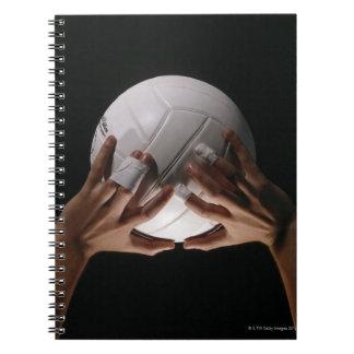 Manos del voleibol libreta espiral