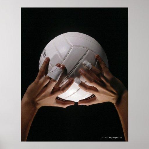 Manos del voleibol poster