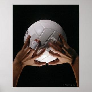 Manos del voleibol póster