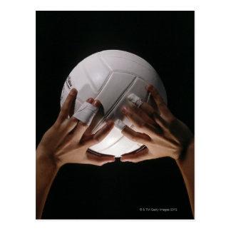 Manos del voleibol tarjetas postales
