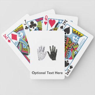 Manos dibujadas mano del corazón baraja cartas de poker