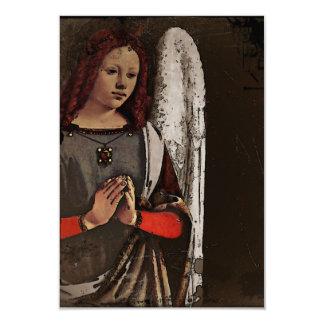 """Manos dobladas ángel gracioso invitación 3.5"""" x 5"""""""