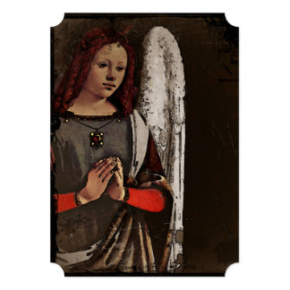 """Manos dobladas ángel gracioso invitación 5"""" x 7"""""""