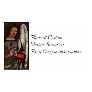 Manos dobladas ángel gracioso tarjetas de visita