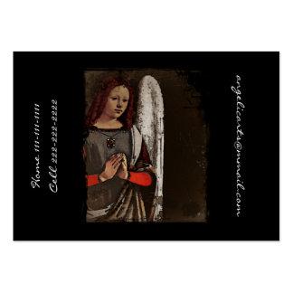 Manos dobladas ángel gracioso tarjetas de visita grandes