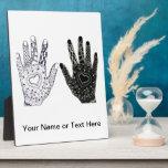 Manos Doodled corazón dibujadas mano Placas Con Foto