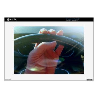 Manos en fotografía artística del volante portátil calcomanías