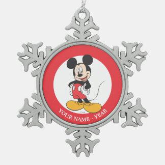 Manos laterales modernas de Mickey el | en caderas Adorno De Peltre En Forma De Copo De Nieve