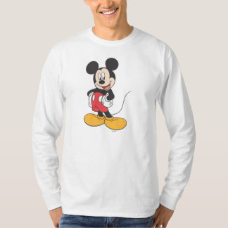 Manos laterales modernas de Mickey el   en caderas Playera