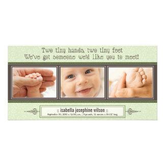 Manos minúsculas, pies minúsculos de invitación de tarjetas personales
