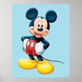 Manos modernas de Mickey el | en caderas Póster