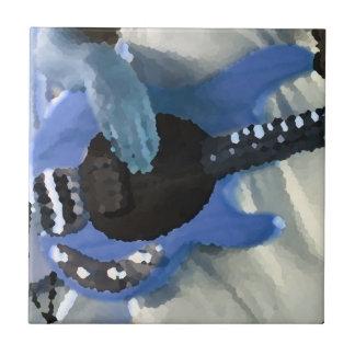manos painterly del bajo de secuencia del azul cua azulejo cerámica