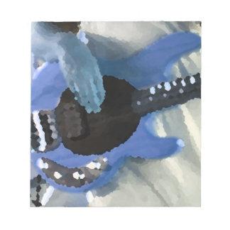 manos painterly del bajo de secuencia del azul cua bloc de papel