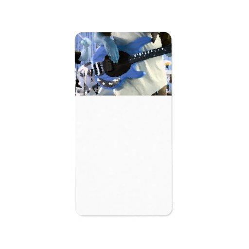 manos painterly del bajo de secuencia del azul cua etiqueta de dirección