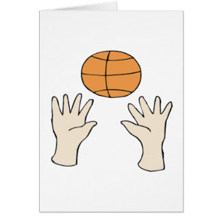 Manos para arriba tarjeta de felicitación