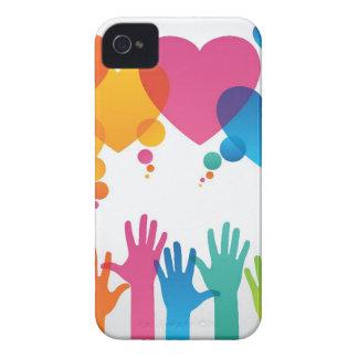 Manos que alcanzan para el amor Case-Mate iPhone 4 fundas