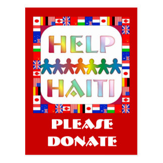 Manos que ayudan a Haití - done por favor Tarjeta Postal