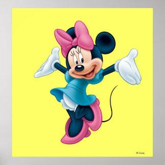 Manos que dan la bienvenida azules de Minnie el | Póster