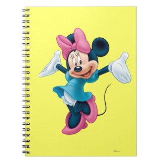 Manos que dan la bienvenida azules de Minnie el | Spiral Notebook