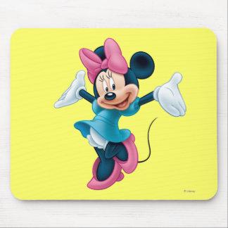 Manos que dan la bienvenida azules de Minnie el | Tapetes De Ratón