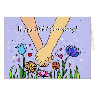 Manos que se sostienen románticas - datación/regal tarjeta de felicitación