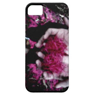 Manos rosadas del pétalo de la flor iPhone 5 Case-Mate carcasas