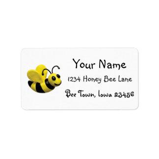 Manosee a la fiesta de cumpleaños de la abeja etiquetas de dirección