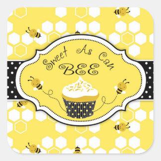 Manosee al pegatina HBSQ 2 de la abeja